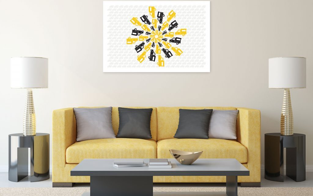 Decorate Your Place with Multi-Colored Table Runner and Wall Arts